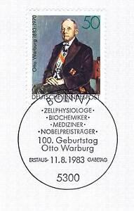 Rfa 1983: Otto Warburg Nº 1184 Avec Le Bonner Ersttags Cachet Spécial! 1a! 155-stempel! 1a! 155fr-fr Afficher Le Titre D'origine