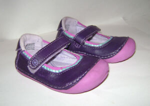 5 Striderite Mary jane shoes toddler girl Dark Pink US size 4 5.5 4.5