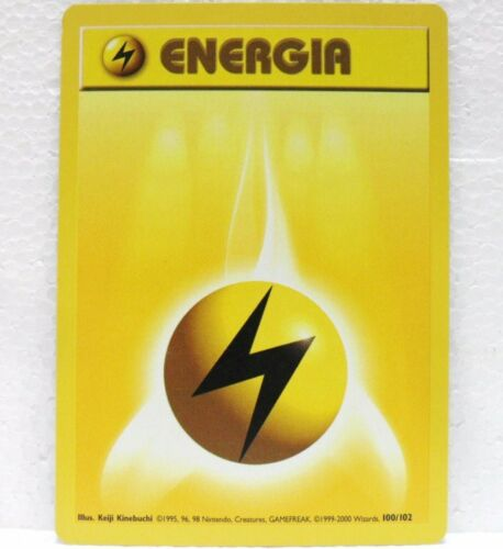 Pokemon Base Set Unlimited Paper Energy x4-99//102 English