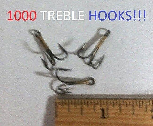 1000 Eagle Claw Sz.6 Sz.6 Sz.6 1x Regular-Shank Bronze Treble Hooks (3063M-6) EB100504 cf83a0
