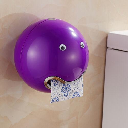 Face Emoticon Wall Mount Tissue Holder Toilet Bathroom Roll Paper Storage Box JA
