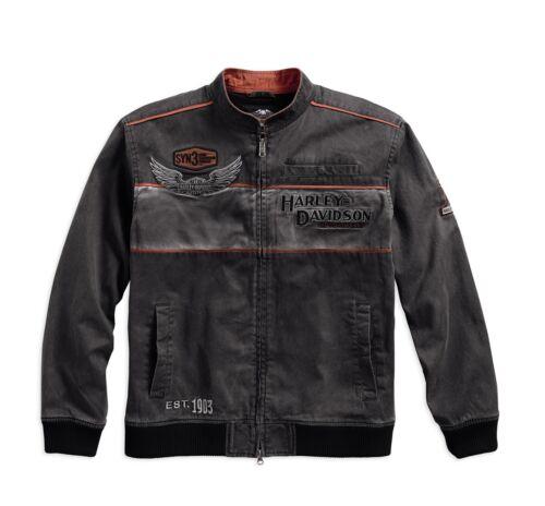 Harley-DavidsonMen/'s Iron Block Casual Jacke Gr S grau Herren