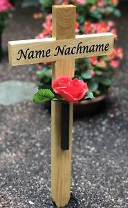 Grabkreuz Incl Beschriftung Nach Wunsch Ca Straßenkreuz 57 cm Holzkreuz