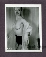 Ripe Perky Breasts Hot Sexy Girl 1950 ORIGINAL VINTAGE NUDE PINUP PHOTO B2321