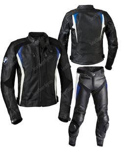 BMW Hommes Combinaison de Moto en Cuir MOTO Courses Moto en Cuir Veste Pantalon