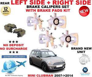 RIGHT BRAKE PADS SET FOR MINI CLUBMAN  2007-2014 2x REAR BRAKE CALIPERS LEFT