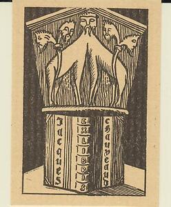 2 EX-LIBRIS JACQUES CHAUVEAUD - Angoulême (Charente) - 20e siècle. ut4n5CJO-09163406-387817022