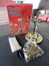 "Vtg NIB Gold Swedish Angel Chimes w/Candles H 10"" (approx) Made In Hong Kong"