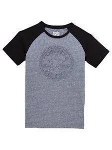 Classique-de-Garcons-CONVERSE-cisele-Logo-T-Shirt-966420-Bleu-Marne