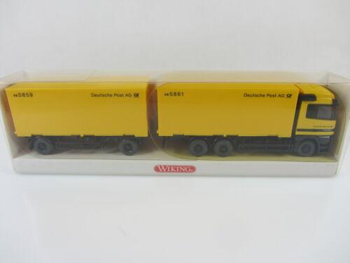 Wiking 5730639 HO 1:87 MB Actros Wechsel-Koffer-LKW Post neu und mit OVP
