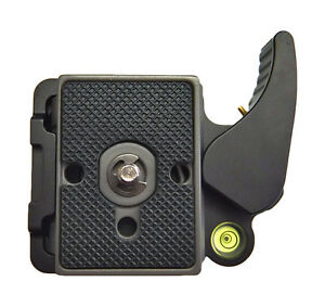 Quick-Release-QR-Adapter-amp-Plate-Lightweight-Manfrotto-200PL-14-Compat-1-4-034-3-8-034