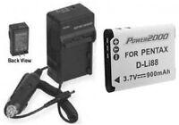 Battery + Charger For Sanyo Dbl80a Dbl80au Dbl80u Vpcgh3gx Vpcgh3px Vpcgh3ta
