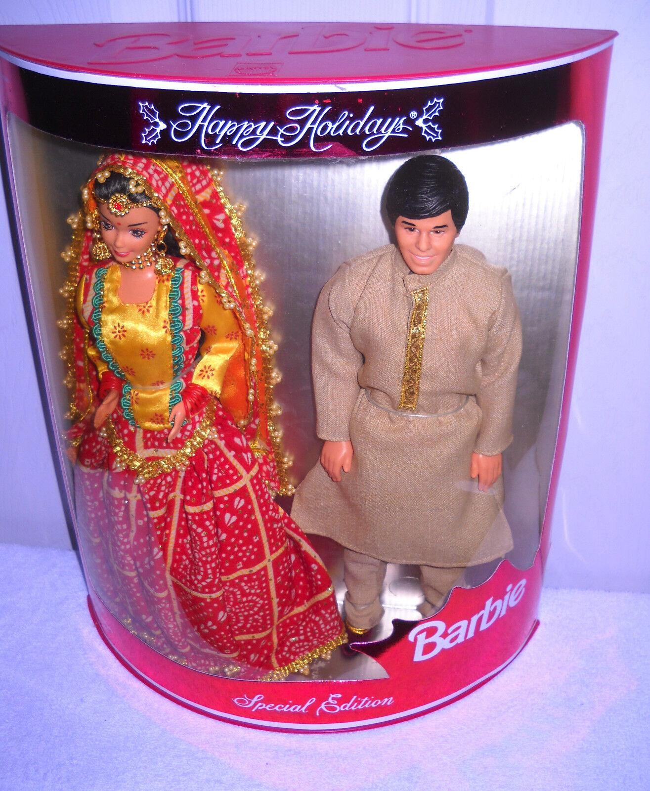 Raro nunca quitado de la Caja Mattel Leo India felices vacaciones Barbie y Ken Exterior Conjunto De