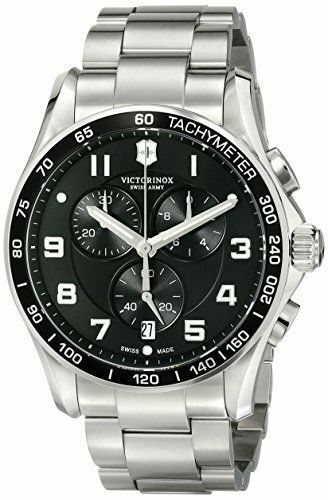 Victorinox Swiss Army 241650 Watch Chrono Classic Xls Mens Black Dial Stainles