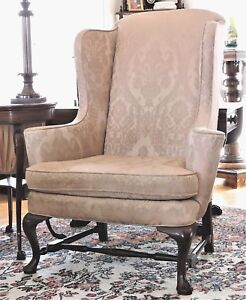 Image Is Loading Wingback Arm Chair Century Furniture Co Hickory Nc