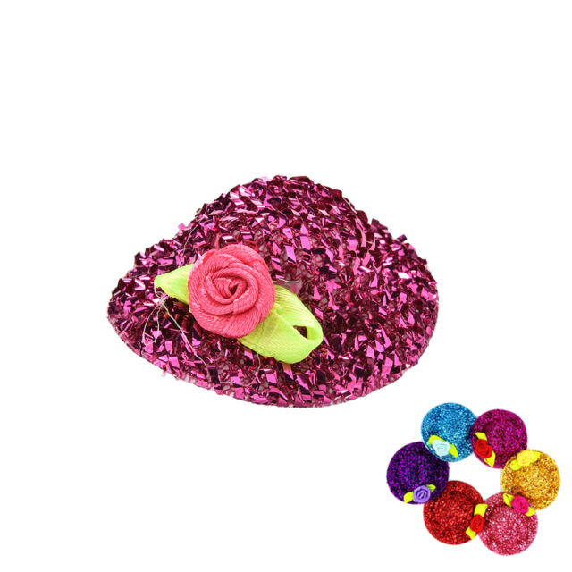 "2 Pcs//lot Fashion Sequin Doll Hat for 11/""  Dolls*Color Random P*BD he"
