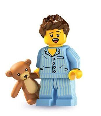LEGO MINIFIGURES SERIE 6-8806 DORMIGLIONE-Pigiama di andare a dormire Ragazzo con Teddy