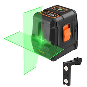 Laser Level, SC-L07G Green Laser Level 30M Self-Leveling Cross-Line Laser and