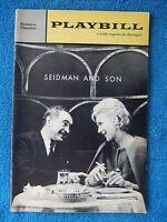 Seidman And Son - Belasco Theatre Playbill - December 24th, 1962 - Sam Levene