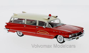 Wonderful modelcar BUICK FLXIBLE PREMIER US-AMBULANCE US-AMBULANCE US-AMBULANCE 1960 - red white - ltd.700 fdb