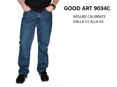 FOTO MISURE CALIBRATE JEANS UOMO GOOD IN COTONE ART 9034C COL