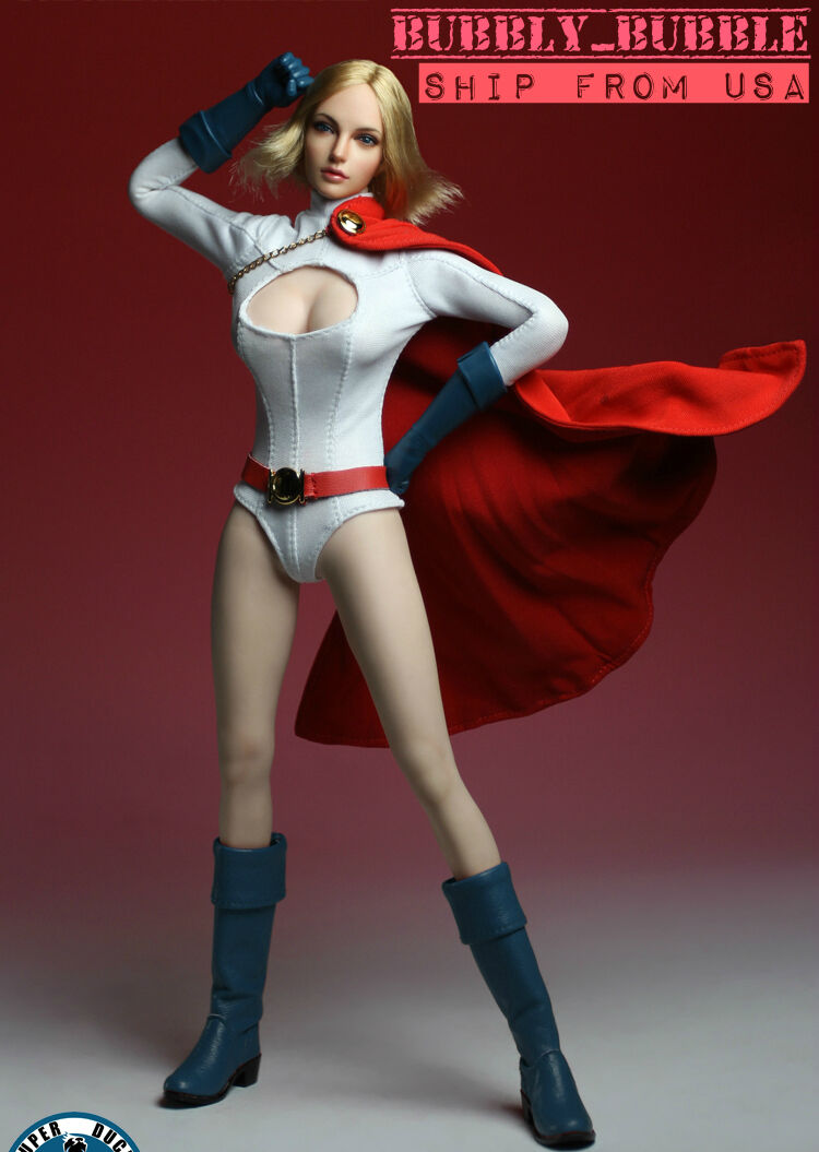 1/6 POWER GIRL Seamless Figure Full Set Head Body Clothing SHIP FROM USA
