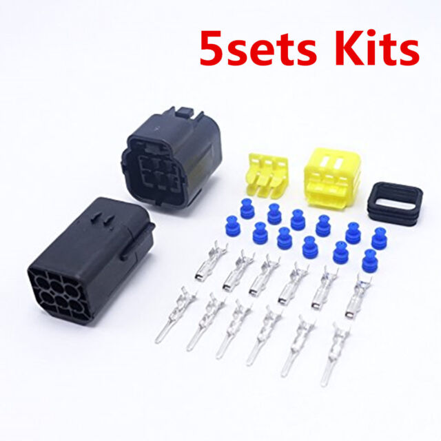 5sets Kits 6pin Way Super Sealed Waterproof Car Electric Wire Connector Plugs