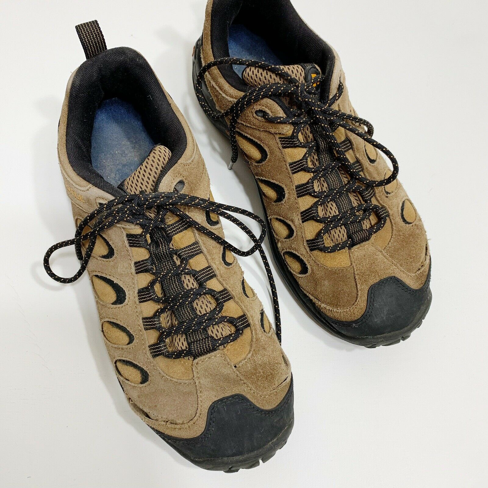 Merrell Relfex Low Hikers Brown Suede Rubber Sole Waterproof Lace Up shoes 11