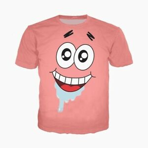 bf241058e6c Details about Hot Women Men 3D Print T-Shirt Cartoon Patrick Star Summer Short  Sleeve Tee Tops