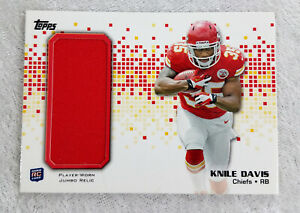 2013 Knile Davis Topps Jumbo Relic Game Worn Jersey RC KC Chiefs ...