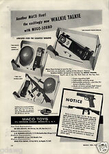 1956 PAPER AD Maco Toy Co .45 Cal Automatic Pistol 593 Paratrooper 30 Rifle