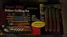 Smart BBQ Deluxe Barbeque Outdoor Grill Tools Set 23 piece