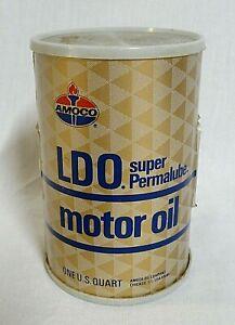 "LOOK! 1970`S ""AMOCO"" LDO MOTOR OIL CAN TRANSISTOR NOVELTY PROMO RADIO WORKS!"