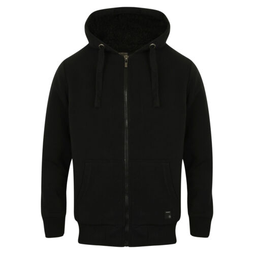 Mens Dissident Bolo Sherpa Lined Premium Warm Winter Hoodie Sizes M-XXL AW17