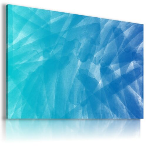 PAINTING MIST BLUE Abstract Modern Canvas Wall Art Picture Large BA10 X MATAGA