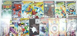 DC-Comic-Book-Lot-Of-15-Spiderman-Superman-Green-Arrow-Deadpool-Superboy