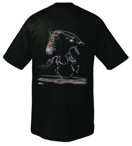 08159 Bambini T-Shirt Motivo Cavalli-Sangue Caldo-Nuovo 116-152 Collection boetzel