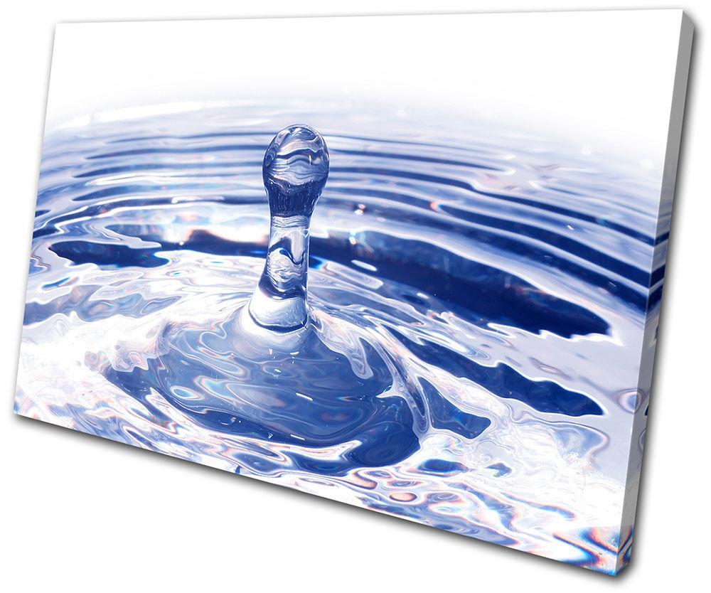 Abstract Water Splash SINGLE TELA parete arte arte arte foto stampa 9092c0