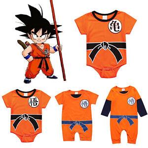 7cfc049d0 Newborn Baby Boys Girls Dragon Ball Z Clothes Romper Infant Jumpsuit ...