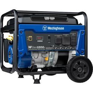 WGen5300v 6,600/5,300 Watt Gas Powered Portable Generator with RV and Transfer