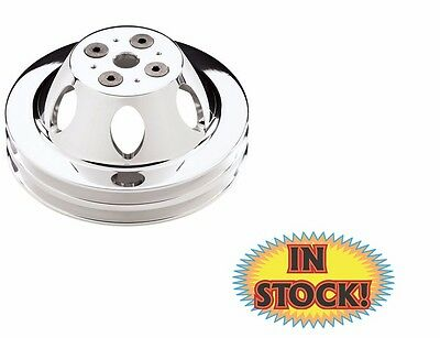 Billet Specialties 82220 Polished 2 Groove Water Pump Upper Pulley for Big Block Chevy