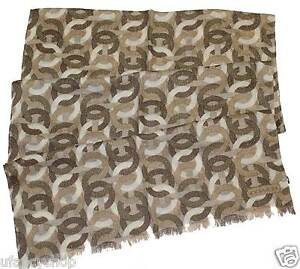 COACH-Optical-C-Metallic-Oblong-Scarf-Wool-Silk-Blended-78-034-x21-034-in-Beige