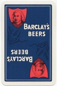 Playing-Cards-Single-Card-Old-BARCLAYS-Brewery-Advertising-Art-LAGER-Beer-Hops-1