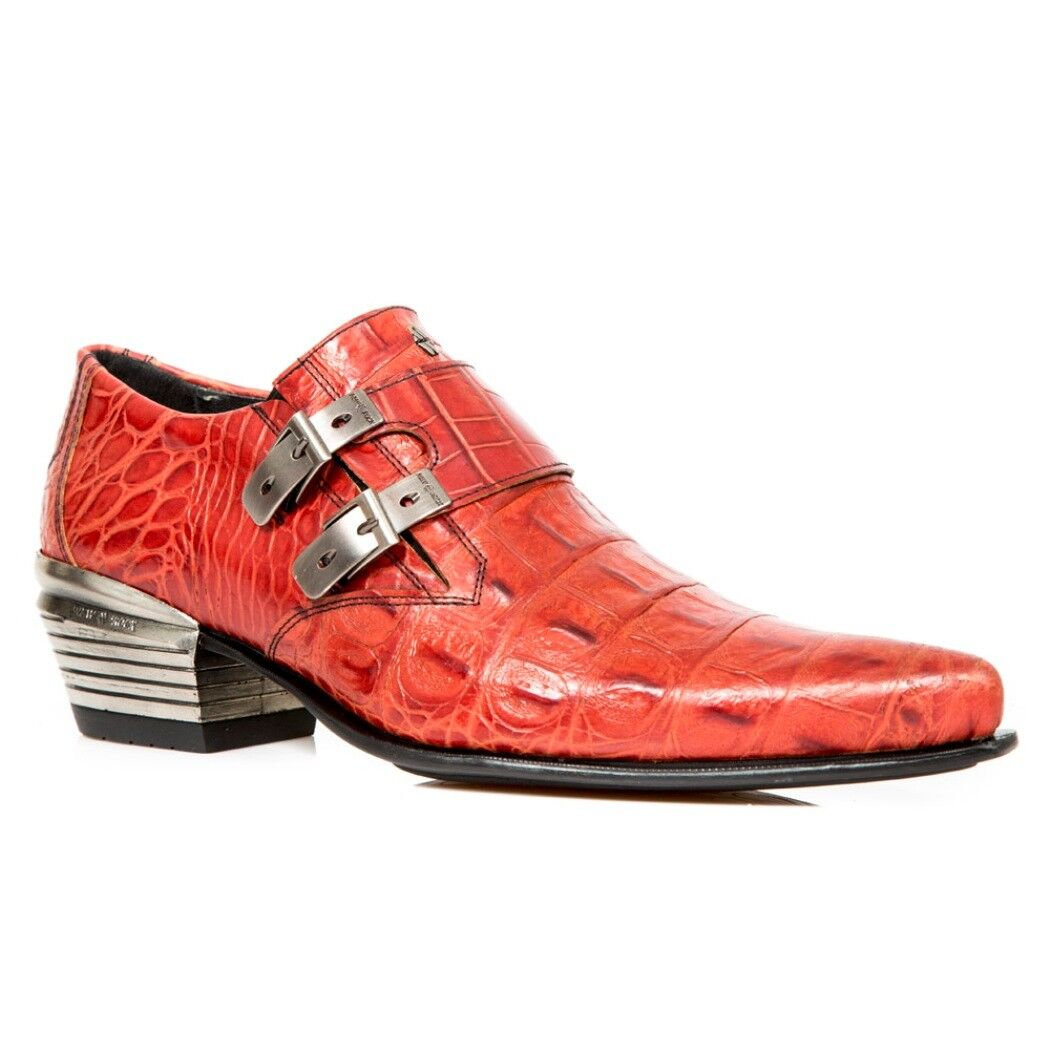 NEWROCK NR M.7934 S20 Red Boots - New Rock Boots Red - Mens d517a1