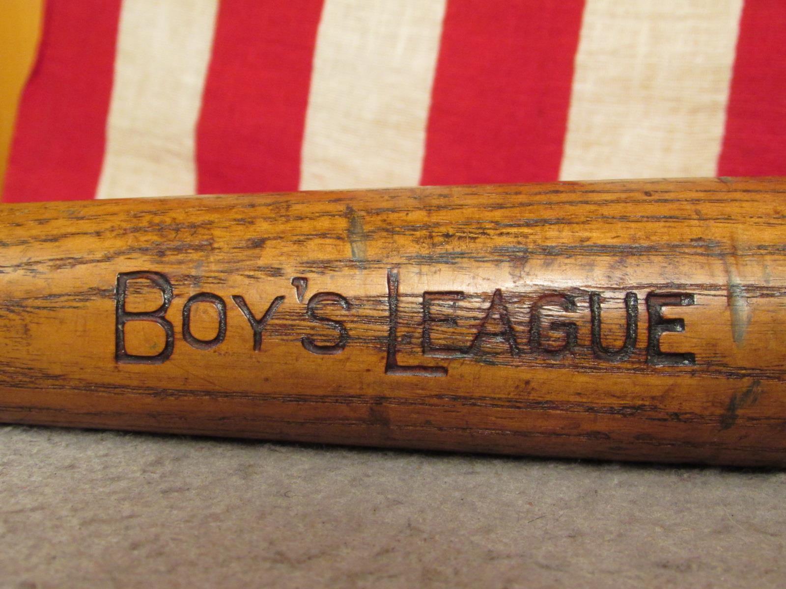 Vintage 1940s Jahre 'Jungen League' Holz Baseball Schläger Special Modell 29