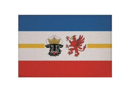 Ricamate Meclemburgo-Pomerania occidentale bandiera bandiera aufbügler Patch 9 x 6 cm