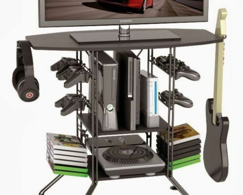 TV Stand Rack Furniture Video Game Console Storage Room Guitar Xbox One PS4  Wii