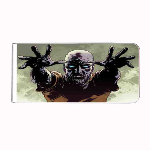 Metal Money Clip Bills Card Holder Rectangle 3rd Zombie D 4 Walking Dead