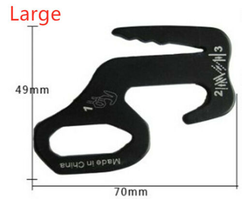 Small Aluminum Rope Tightening Mechanism With Carabiner Clip 4 Pcs