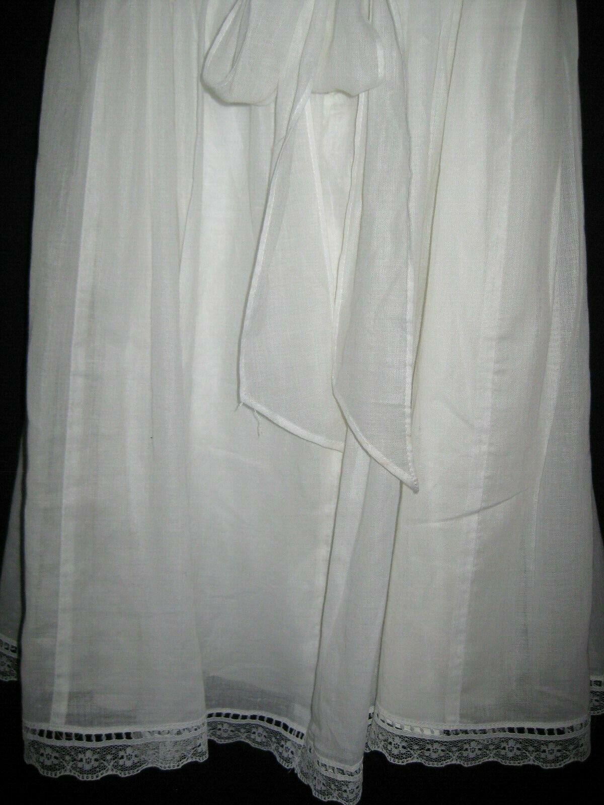 Gunne Sax White Dress Girls Size 12 Pre-Owned - image 9